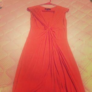 Orange Ellen Tracy sun dress